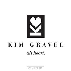 Logo Design for the amazing Kim Gravel (Kim of Queens.) She rocks!! Simple signature icon created for her with a timeless serif font.