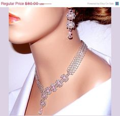 ON SALE 25 OFF Jewelry set necklace and earrings by NezDesigns, $60.00