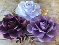 "121 Likes, 4 Comments - Patricia Paper Flowers (@patriciapaperflowers) on Instagram: ""Purple & White Roses, paper flowers"""