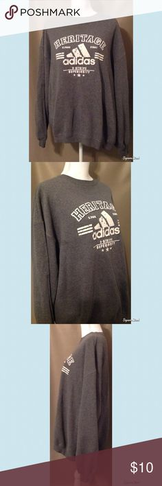 Gray Adidas Sweatshirt Super comfy. Pair with your favorite pair of sweatpants! Tag is missing but fits like a L/XL. Adidas Sweaters Crewneck