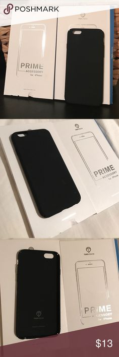iPhone 6/6S black matte slim case New with package iPhone 6 / 6S Case, Snap on Ultra-Thin Premium Minimalist Matte Finish Hard Case Accessories Phone Cases