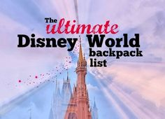 The Mostly Disney Mom Blog | What to bring to Disney World for a day: the ultimate list