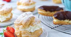 An easy recipe for light and airy pastries filled with whipped cream or pastry cream.