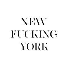 NEW FUCKING YORK by Moshik Nadav Typography. Based on Lingerie Typeface. www.moshik.net