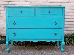 turquoise dresser...idk what my obsession with this for baby's room