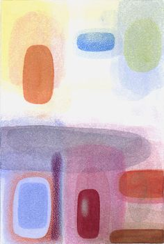 """Philip Kirk / """"Distant Light"""",  watercolor, colored pencil, on Fabriano Uno soft press paper 7.5 x 5 inches, May 2007"""