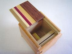 Japanese Puzzle box Himitsu bako 1.7inch Open by by tomomaru