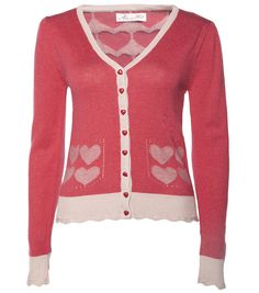 ee3e182b155c9 MY SMILING ANGER CARDIGAN: Long sleeve knit, featuring gorgeous love heart  pattern the bottom front and back of cardigan and delightful little love  heart ...