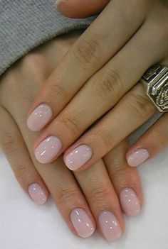 Lovely Neutral Light Pink Manicure I Love This Nail Design