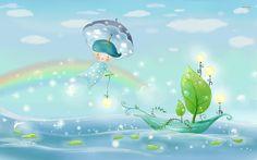 anime rainbow wallpapers