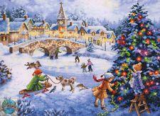 Cross Stitch Kit ~ Gold Collection celebração de Inverno #70-08919 Cidade De Natal