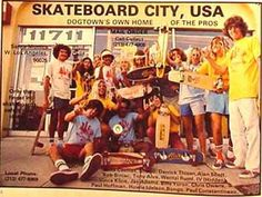 The Zephyr team from Dogtown with high shorts and yellow tshirts. Thanks for the pic oldstylefreestyle.com!