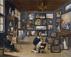 David Teniers the Younger (1610-1690) — An Artist in His Studio Surrounded by His Paintings (800×645)