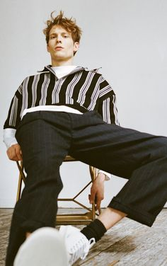 Layer stripes on stripes for a new season take on the failsafe wardrobe classic. Mix vertical with horizontal, thick with thin for a bold look.  http://www.matchesfashion.com/mens/the-style-report/2017/04/the-laid-back-style-issue/the-shoot-parallel-lines-stripes-ss17