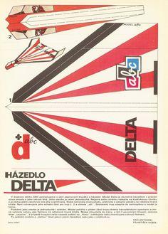 """Paper Plane """" DELTA """" (ABC Magazine)"""