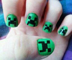 Minecraft Creeper nails!