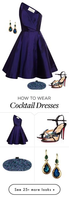 """""""Wing"""" by jenncordova on Polyvore featuring Christian Louboutin, Edie Parker and…"""