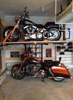 Motorcycle atv snow mobile garage evolution garage for Motorcycle garage plans