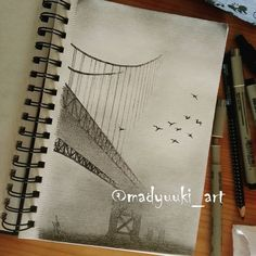 Bridge by @madyuuki_art   https://instagram.com/madyuuki_art/ http://yuki-chan-xdxd.deviantart.com/   #madyuuki_art #bridge #road #bird #fog #foggy #architecture #drawing #drawings #building #buildings #landscape #art #artist #pencil #pencildrawing #micron #polishartist #good #artdrawingg #art_spotlight #sketch #sketchbook #arqsketch #bestoftheday #bestdrawing #instagood #poland