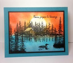Lakeside Cabin: Stampscapes by beesmom - Cards and Paper Crafts at Splitcoaststampers