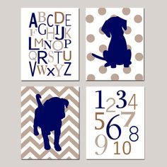 Baby Boy Nursery Art  Set of Four 8x10 Kids Prints  by Tessyla, $65.00