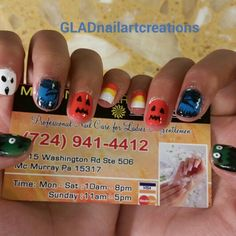 Halloween Nail Art Created by Amy Nguyen