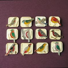 Vintage Birds Pins Bird Lapel Pin Birds Charms Birds by MyBootSale