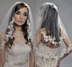 Free shipping, $25.14/Piece:buy wholesale 2015 Gergous Short Wedding Veils Two Layers Elbow Length Tulle Appliques White Lace Bridal Veils Ivory Veils For Wedding Dresses of Two-Layer,Lace Applique Edge,Netting on ballybridalgown's Store from DHgate.com, get worldwide delivery and buyer protection service.