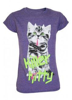 Darkside Clothing Killer Kitty T-Shirt, £14.99