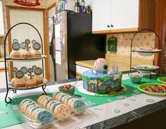 Griffin celebrated his birthday with a Terraria themed party.  He asked to have his friends over for an at home party.  It was a day full of...