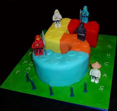 Image Detail for - Lego Ninjago Number 5 Birthday Cake by Makeitmemorable on Cake Central