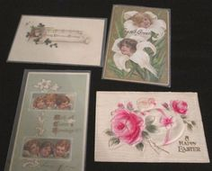 Post Card Antique Lot Of 4 Holiday Christmas Easter Embossed Flowers Cherubs Egg | Collectibles, Postcards, Holidays | eBay!