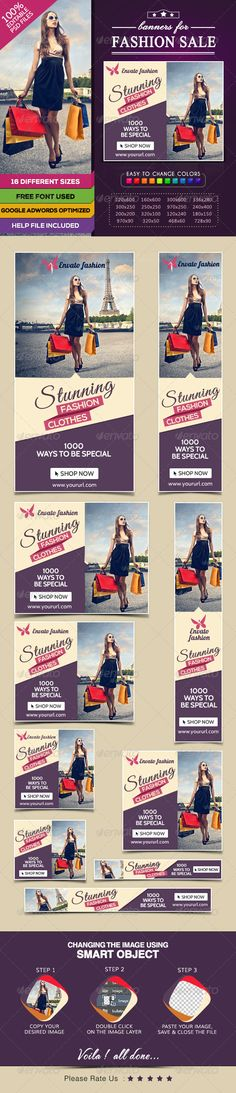 Fashion Sale Banners  Template PSD | Buy and Download: http://graphicriver.net/item/fashion-sale-banners/7809125?WT.ac=category_thumb&WT.z_author=BannerDesignCo&ref=ksioks