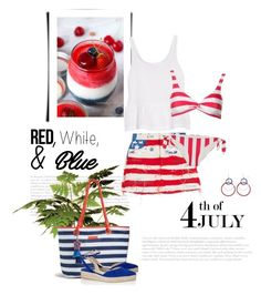 """Red, White and Blue Fashion"" by bliznec ❤ liked on Polyvore featuring Marc Jacobs, J Brand, Solid & Striped, Vera Bradley, Paul Andrew, redwhiteandblue, july4th and polyvorecontest"