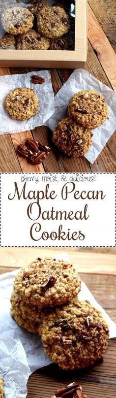 Maple Pecan Oatmeal Cookies - Lord Byron's Kitchen