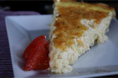 Meatless Monday ~ Cheese Quiche  Creamy, smooth, cheesy, butter, flaky, heaven, y'all!  Heaven! :)
