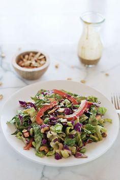Creamy Tahini Chopped Salad | A Beautiful Mess | Bloglovin'