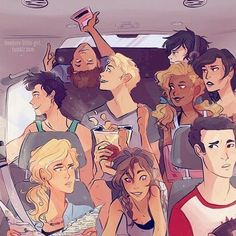# So this book is gonna be a bunch of funny pictures and moments of Percy Jackson and the Olympians/Heroes of Olympus series. COMPLETED of olympus Percy Jackson Pictures - The seven on vacation Percy Jackson Fandom, Memes Percy Jackson, Percy Jackson Film, Percy Jackson Characters, Percy Jackson Fan Art Funny, Percy Jackson Couples, Viria Percy Jackson, Percy Jackson Drawings, Annabeth Chase
