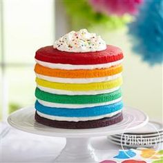 Rainbow Cake from Pillsbury® Baking