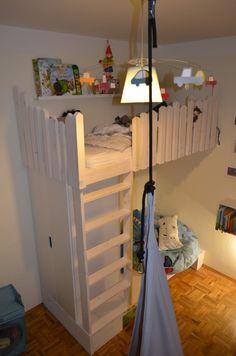 Spielzimmer selber bauen  Hochbett aus Konstruktionsholz Bauanleitung zum selber bauen ...