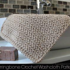 Herringbone Crochet Washcloth Pattern