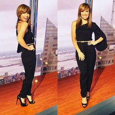 Loving the @millybymichelle one arm jumpsuit on host Sara Gore!