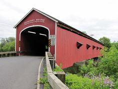 Buskirks Covered Bridge New York State- Travel Photos by Galen R Frysinger, Sheboygan, Wisconsin