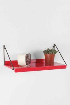 Red Metal Shelf