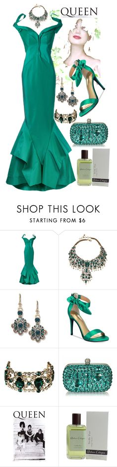 """""""Fit for a Queen"""" by quirico ❤ liked on Polyvore featuring Zac Posen, Amrita Singh, Marchesa, Thalia Sodi, Dsquared2 and Atelier Cologne"""