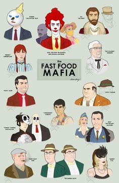 The Fast Food Mafia Poster. Powered by Elebra: Sample @ www.MyElebra.com/Pin