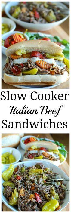 slow cooker italian beef sandwiches slow cooker italian beef ...