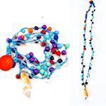 MELLIFLEURS handmade necklace bohemian,gipsy style.Collana fatta a mano,tricot,uncinetto,pezzo unico Made in italy