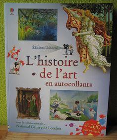 L'histoire de l'art en autocollant  Sarah Courtauld  Karine Bernadou  Pascal Varejka  Editions Usborne