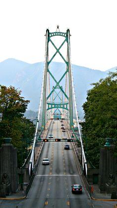 The iconic #Lionsgate Bridge in Vancouver, Canada @explorecanada